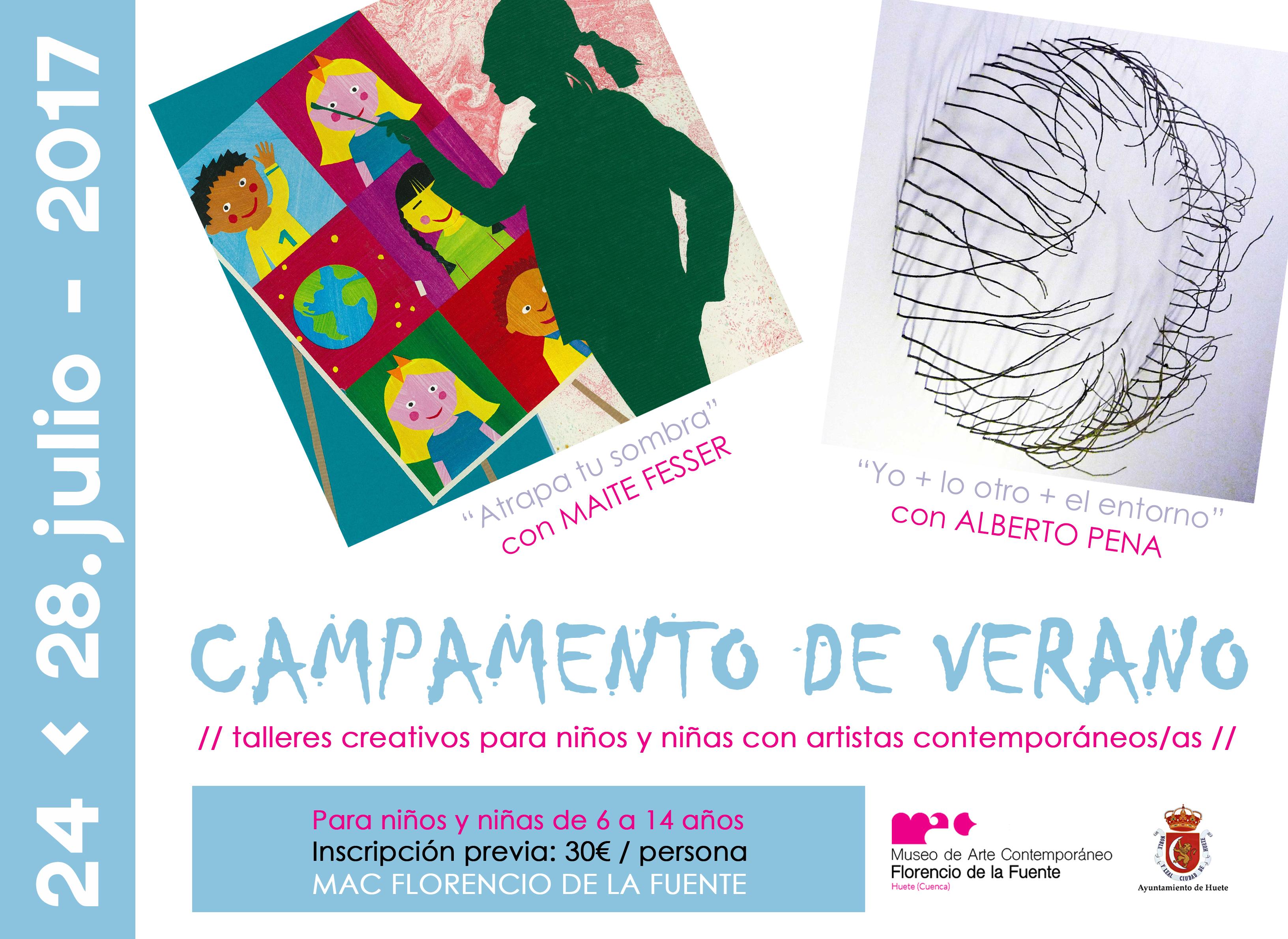 TALLERES VERANO HUETE cartel