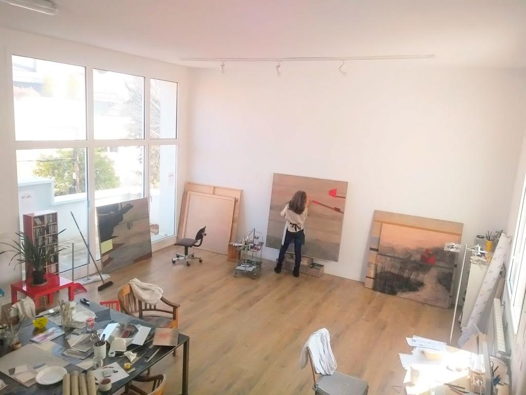 La artista, en su estudio de Madrid